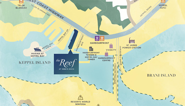 The Reef at King's Dock Location Map Thumbnail