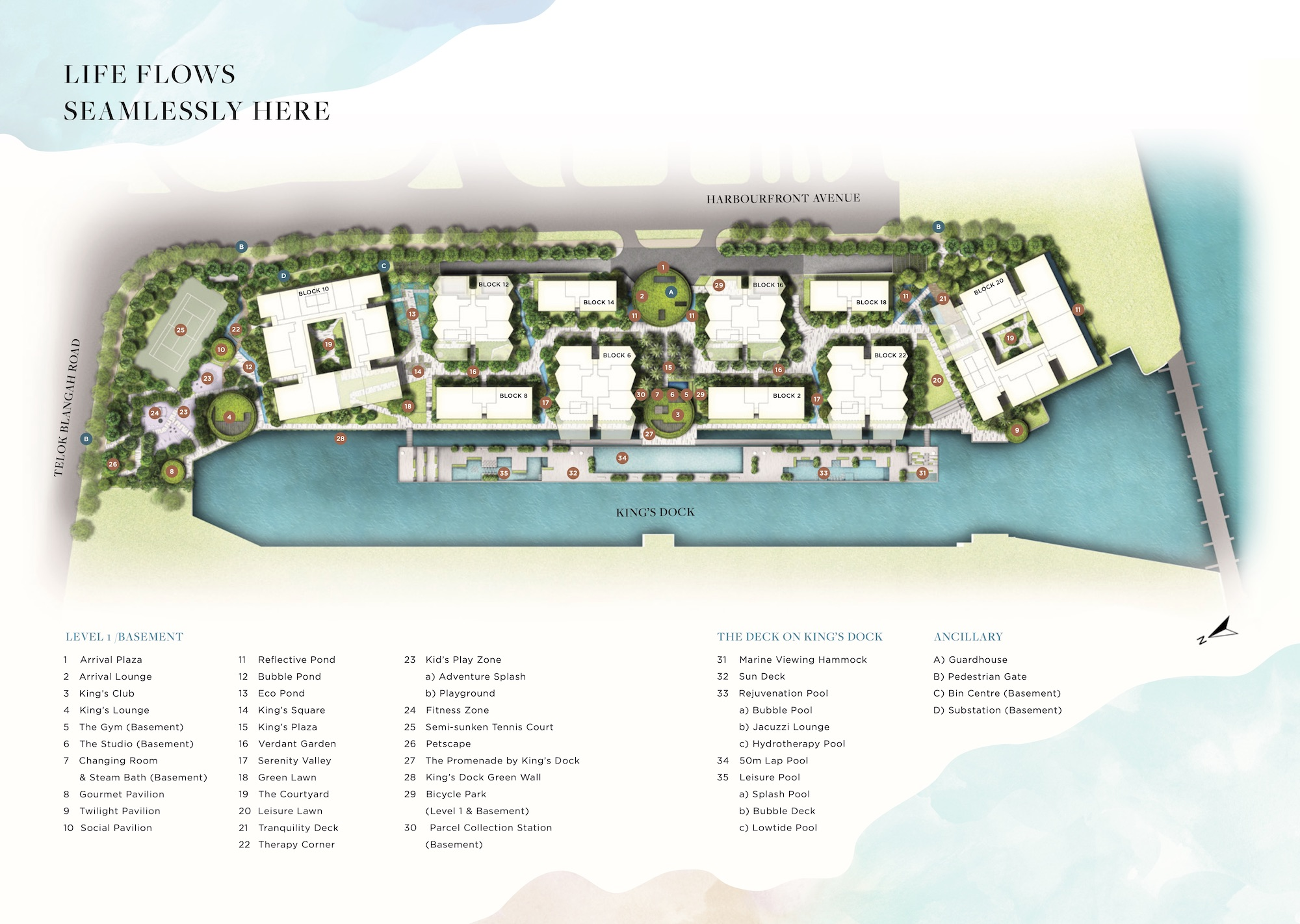 The Reef at King's Dock Site Plan 1